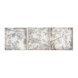 PJÄTTERYD picture, set of 3, cherry blossom trio Width: 56 cm Height: 56 cm