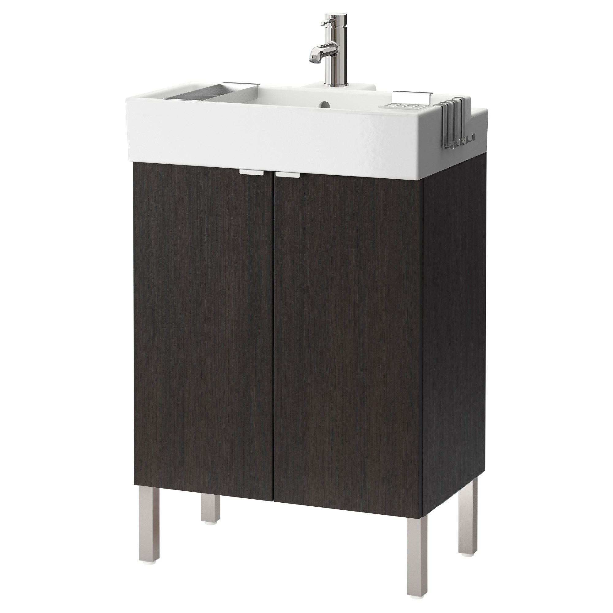 Bathroom sink cabinets white - Lill Ngen Sink Cabinet With 2 Doors Black Brown Width 23 5 8