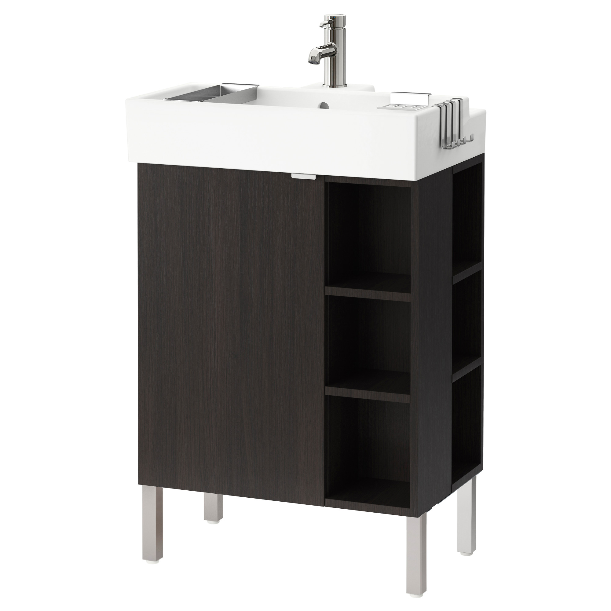 LILL NGEN sinK cabinet 1 door 2 end units  black brown Width. Sink Cabinets   Bathroom   IKEA