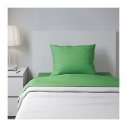 DVALA sheet set, green Thread count: 144 /inch² Thread count: 144 /inch²
