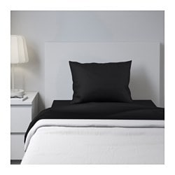 DVALA sheet set, black Thread count: 152 /inch² Thread count: 152 /inch²