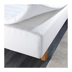 OXEL bed base side cover, white Length: 200 cm Width: 140 cm