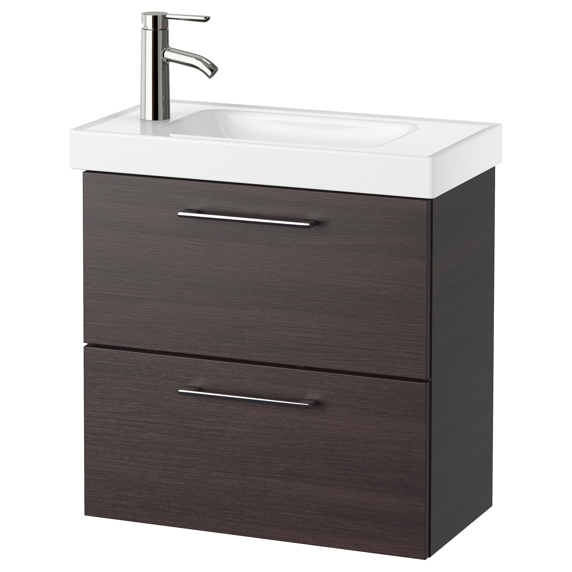 godmorgon hagaviken sink cabinet with 2 drawers black brown width 24 3 - Bathroom Cabinets Sink