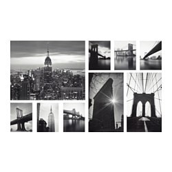 GRÖNBY picture, set of 9, sights of the city