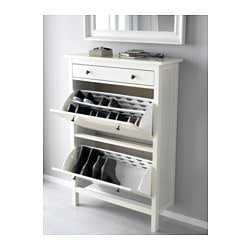 Hemnes Shoe Cabinet With 2 Compartments White
