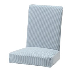 HENRIKSDAL chair cover, Remvallen blue/white