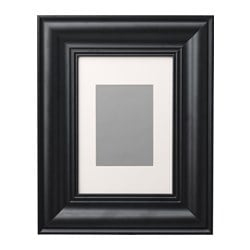 SKATTEBY frame, black Picture without mount, width: 21 cm Picture without mount, height: 30 cm Picture with mount, width: 13 cm