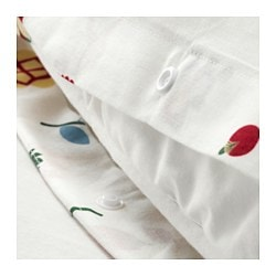 ROSENFIBBLA quilt cover and pillowcase, white, floral patterned Thread count: 144 /inch² Pillowcase quantity: 1 pack Quilt cover length: 200 cm