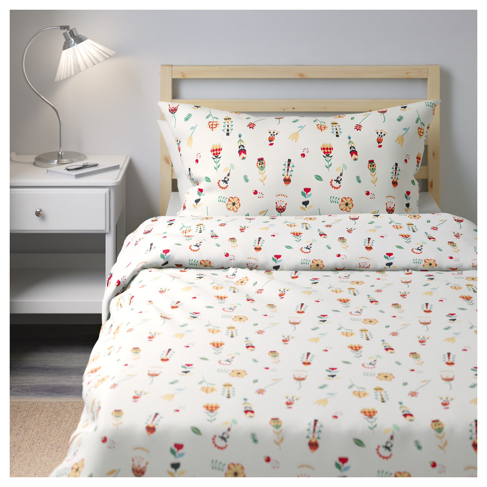 Rosenfibbla Duvet Cover And Pillowcase S Full Queen Double Ikea
