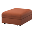 VALLENTUNA cover for seat module with bed, Ramna orange