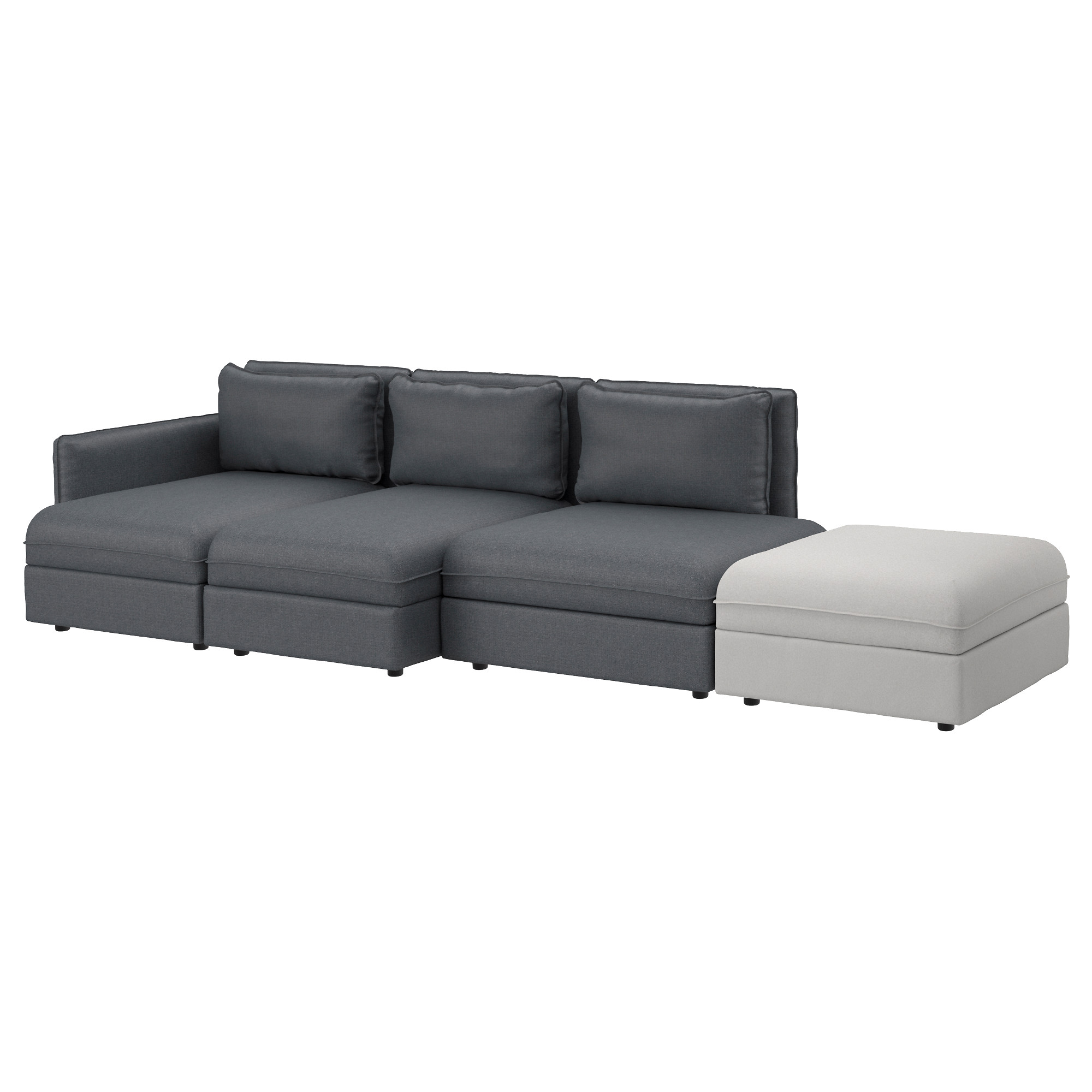 VALLENTUNA sectional 4-seat Hillared dark gray Orrsta light gray Width  sc 1 st  Ikea : sofa and chaise lounge - Sectionals, Sofas & Couches