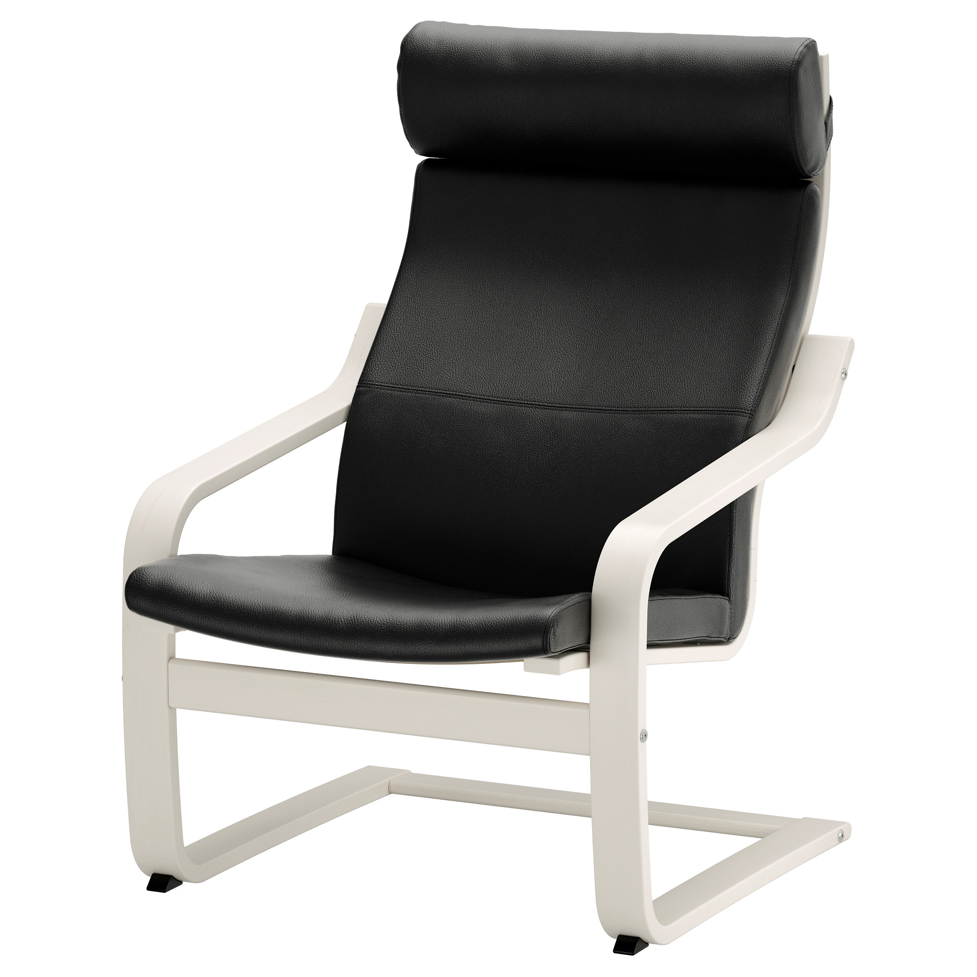 Black chair and white chair - Po Ng Chair White Glose Black Width 26 3 4 Depth