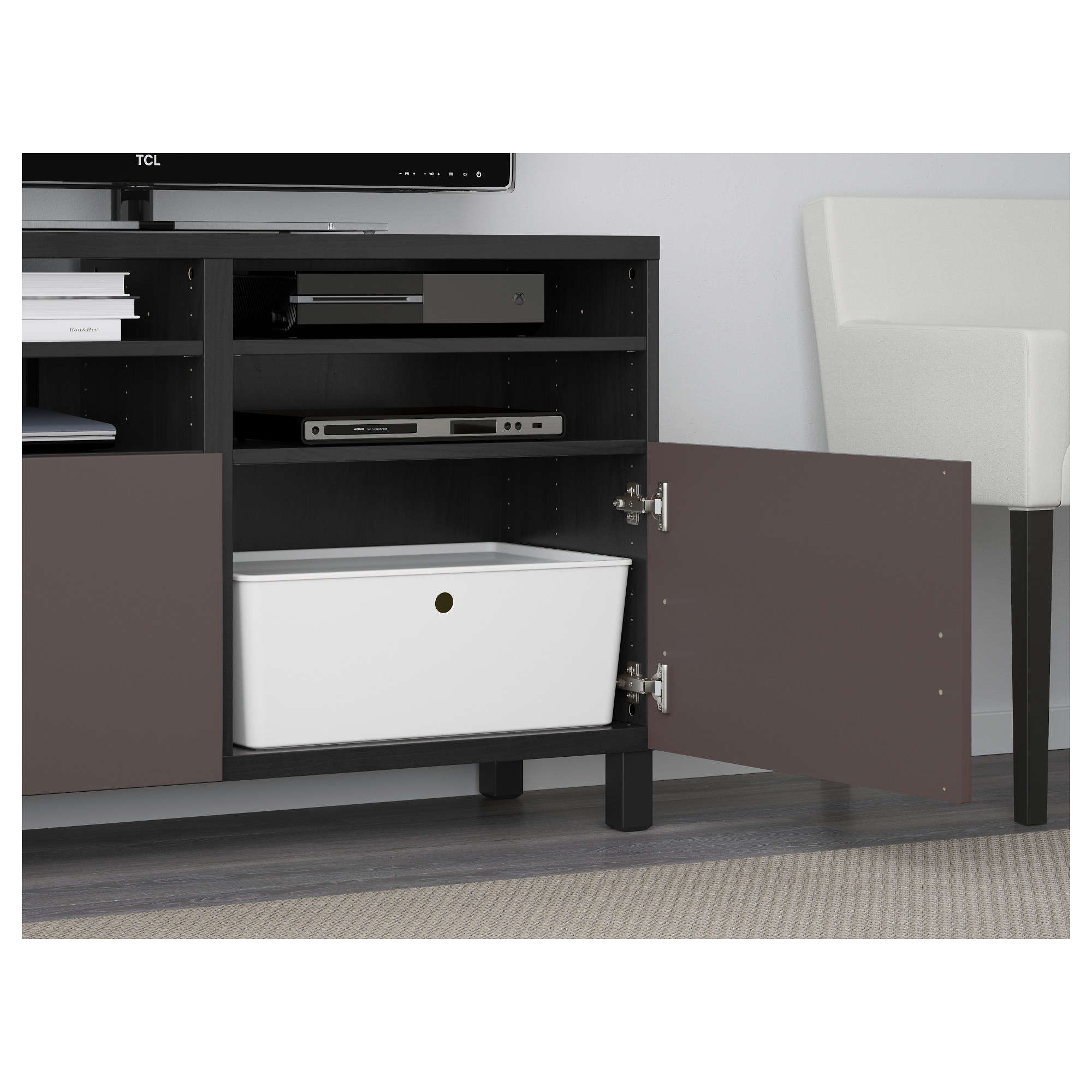 Best Tv Unit With Doors 47 1 4×15 3 4×29 1 8 Lappviken Black  # Ikea Meuble Tv Besta