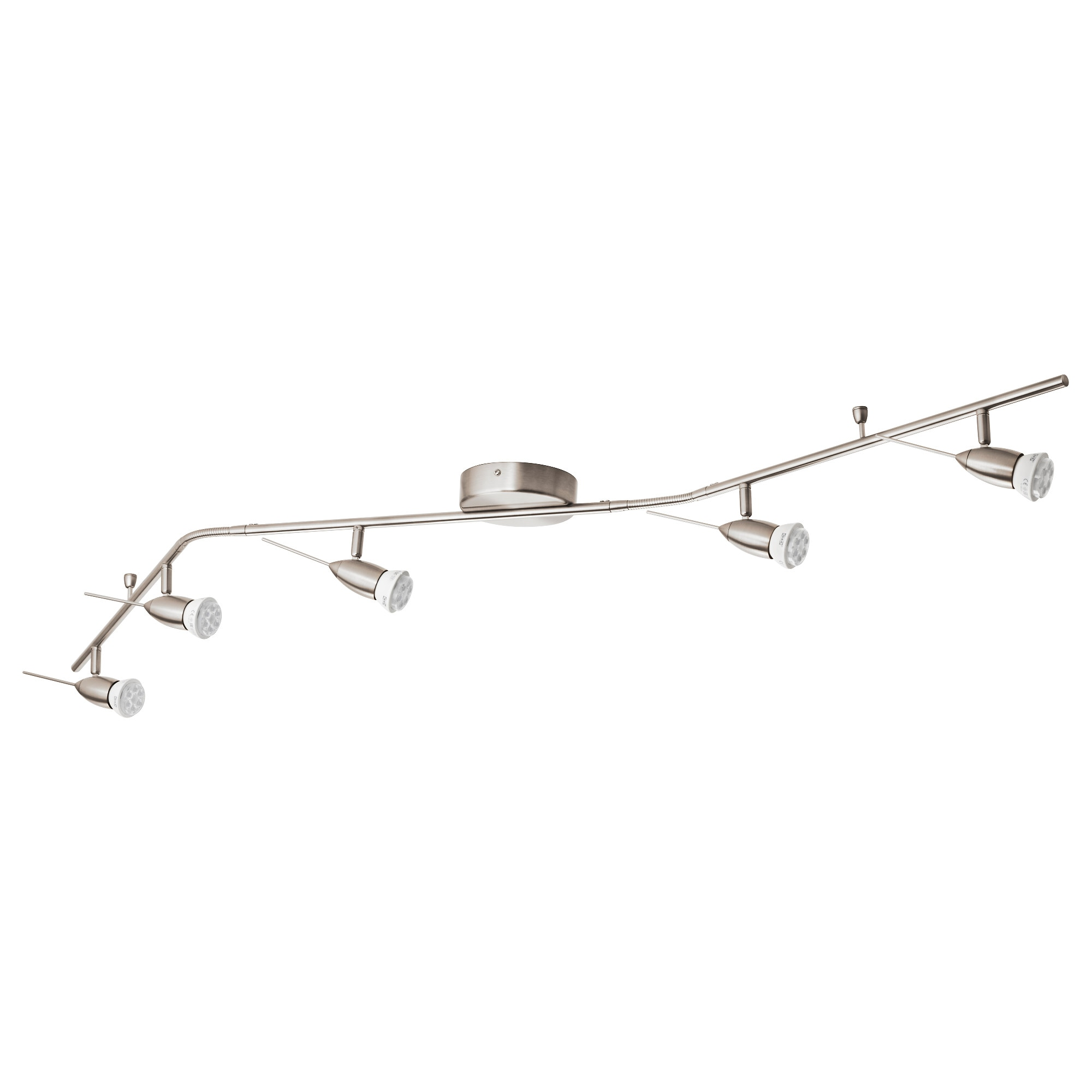 husinge ceiling track 5 spots nickel plated length 63 length ceiling track lighting
