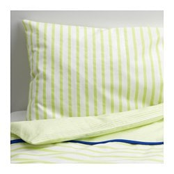 SKÄMTSAM quilt cover/pillowcase for cot, green Quilt cover length: 125 cm Quilt cover width: 110 cm Pillowcase length: 35 cm