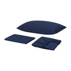 SKVATTRAM sheet set, dark blue