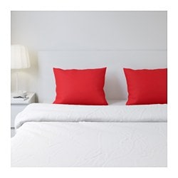 DVALA pillowcase, red Thread count: 144 /inch² Length: 50 cm Width: 60 cm