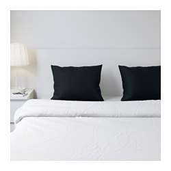 DVALA pillowcase, black Thread count: 144 /inch² Length: 50 cm Width: 60 cm