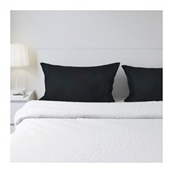DVALA pillowcase, black Thread count: 144 /inch² Length: 50 cm Width: 80 cm