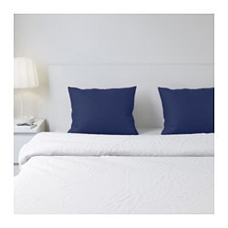 DVALA pillowcase, dark blue Thread count: 144 /inch² Length: 50 cm Width: 60 cm