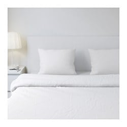 DVALA pillowcase, white Thread count: 144 /inch² Length: 50 cm Width: 60 cm
