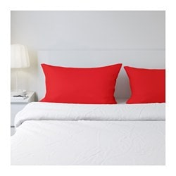DVALA pillowcase, red Thread count: 144 /inch² Length: 50 cm Width: 80 cm