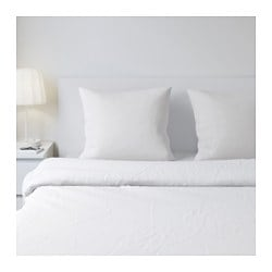 DVALA pillowcase, white Length: 65 cm Width: 65 cm Package quantity: 2 pack