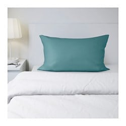 "GÄSPA pillowcase, turquoise Thread count: 310 square inches Length: 20 "" Width: 30 "" Thread count: 310 square inches Length: 51 cm Width: 76 cm"