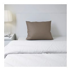GÄSPA pillowcase, brown Thread count: 310 /inch² Length: 50 cm Width: 60 cm