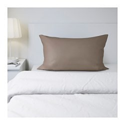 GÄSPA pillowcase, brown Thread count: 310 /inch² Length: 50 cm Width: 80 cm