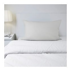 SÖMNIG pillowcase, light grey Thread count: 166 /inch² Length: 50 cm Width: 60 cm