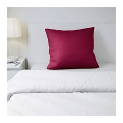 SÖMNIG pillowcase, dark pink Thread count: 166 /inch² Length: 50 cm Width: 60 cm
