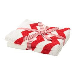 SOMMAR 2016 guest towel, red, white Length: 50 cm Width: 30 cm Surface density: 380 g/m²