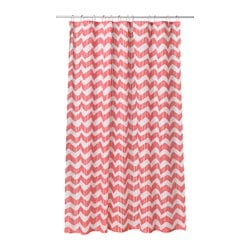 SOMMAR 2016 shower curtain, white, red Length: 180 cm Width: 180 cm Area: 3.24 m²