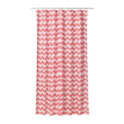 SOMMAR 2016 shower curtain, white, red Length: 200 cm Width: 180 cm Area: 3.60 m²