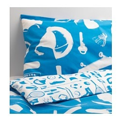 "TALANGFULL duvet cover and pillowcase(s), blue Duvet cover length: 86 "" Duvet cover width: 64 "" Pillowcase length: 20 "" Duvet cover length: 218 cm Duvet cover width: 162 cm Pillowcase length: 51 cm"