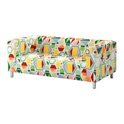 KLIPPAN cover two-seat sofa, Glottra multicolour Number of seats: 2 pieces