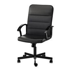 "RENBERGET swivel chair, Bomstad black Tested for: 242 lb 8 oz Width: 23 1/4 "" Depth: 25 5/8 "" Tested for: 110 kg Width: 59 cm Depth: 65 cm"
