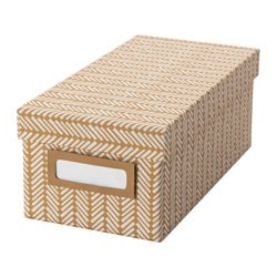 TJENA box with lid, brown Width: 13 cm Depth: 26 cm Height: 10 cm