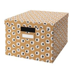 TJENA box with lid, brown Width: 27 cm Depth: 35 cm Height: 20 cm