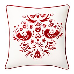 VINTER 2016 cushion cover, white, red Length: 50 cm Width: 50 cm