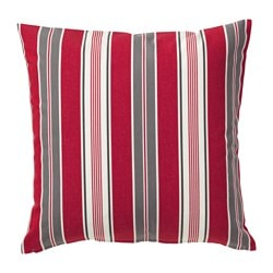 VINTER 2016 cushion cover, red/white, striped Length: 50 cm Width: 50 cm