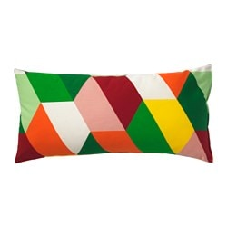 HÖSTFIBBLA cushion, multicolour Length: 30 cm Width: 60 cm Filling weight: 280 g