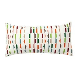 PENNINGGRÄS cushion, multicolour Length: 30 cm Width: 60 cm Filling weight: 280 g