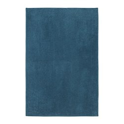 TOFTBO bath mat, green-blue