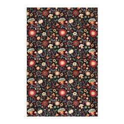 ROSENRIPS fabric, multicolour, black Weigth.: 230 g/m² Width: 150 cm Pattern repeat: 64 cm