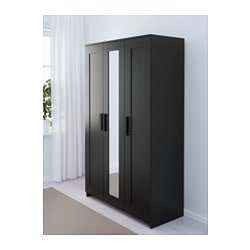 BRIMNES Wardrobe with 3 doors black $149.00  sc 1 st  Ikea : wardrobes door - pezcame.com