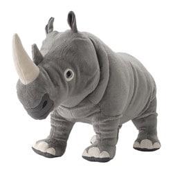 ÖNSKAD soft toy, rhino Length: 55 cm