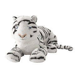 ÖNSKAD soft toy, tiger, white Length: 60 cm