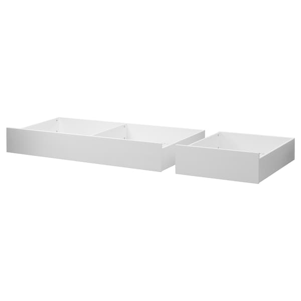 Underbed Storage Box Set Of 2 Hemnes White Stain Stained